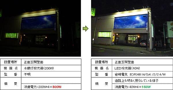 LED 照明 施工事例 葬儀会館