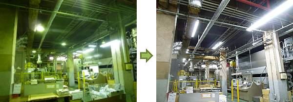 LED照明 施工事例 印刷工場